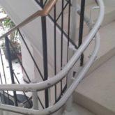 Silla Salvaescaleras Curva Doble-Raíl Handicare 2000 Exterior