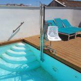 Grua de piscina Hotel Aristoy